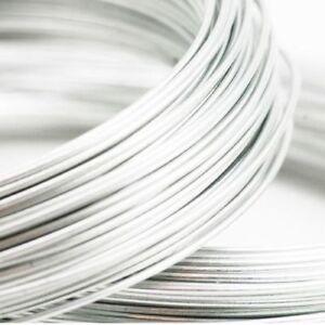 ❤ Silver Aluminium Craft WIRE Choose Size 15, 18, 20 Gauge 0.8mm, 1mm, 1.5mm ❤