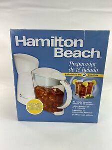 Hamilton Beach 2 Qt Iced Tea Maker 40911 NEW Open Box 2007 Free Ship