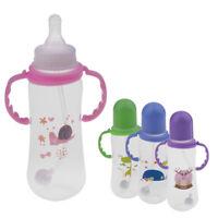 250ml Baby Infant Newborn Bottle Silicone Feeding Nursing Pacifier Bottles
