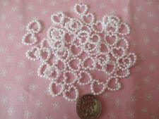 50 cuori perla bianco Abbellimenti 10 mm Craft Scrapbooking Carta Bricolage