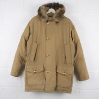 Vintage WOOLRICH Artic Parka Down Lined Beige Jacket Size Mens XL XLarge /R39036