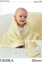 Blankets & Cushion  Double knitting pattern - UKHKA128