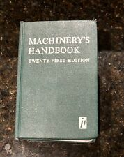 Machinery's Handbook 21st Edition, First Printing 1979 By Erik Oberg - Hardcover