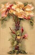 "Vintage Victorian Klein Floral Letter Initial ""T""  2"" x 3"" Fridge Magnet"