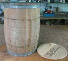 vintage wooden keg w/ lid