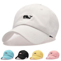 Unisex Summer Outdoor Whale Embroidered  Baseball Cap Adjustable Snapback