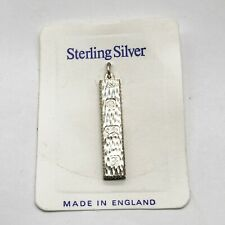 VINTAGE SOLID STERLING SILVER INGOT BULLION BAR PENDANT FOR NECKLACE