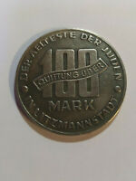 1943 JUDE JEWISH GETTO COIN 100 Mark QUITTUNG UBER LITZMANNSTADT Poland Varsovie