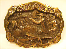 BRASS Belt Buckle GUNFIGHT AT THE OK CORRAL 1986 by Great American Buckle [Y95n]