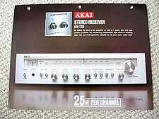 Akai AA-1125 receiver brochure catalogue, #2