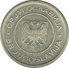 Yougoslavie Yugoslavia Aigle Heraldique Armoirie Coat of Arm Wappen 1 Dinar 2002