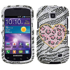 Samsung Galaxy Proclaim Crystal Diamond BLING Case Phone Cover Playful Leopard