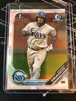 Wander Franco 2019 Topps 1st Bowman Chrome BCP-100 Tampa Bay Rays Rookie RC #1