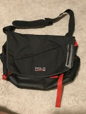 Polo Sport Ralph Lauren Shoulder Laptop Bag Used Black Backpack