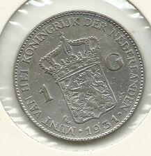 1 Gulden  Wilhelmina   / 1931  / ZIE SCANS VOOR KWALITEIT!