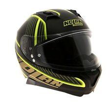 NOLAN N87 HARP N-COM FLAT BLACK / YELLOW FULL FACE MOTORCYCLE HELMET SIZE XS XL