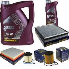Cambio Aceite Kit 6L Mannol Diesel Tdi 5W-30 + Sct Filtro Set Inspección