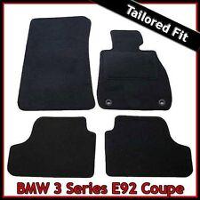 BMW 3 Serie Coupe E92 2006-2013 2-Ojales a Medida Alfombra Alfombrillas De Coche Negro Equipada