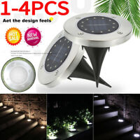 12 LED Solar Power Ground Lights Floor Decking for Outdoor Garden Lawn Path Lamp