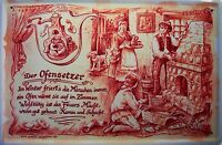 Beruf Ofensetzer Kaminsetzer Blechschild Schild gewölbt Tin Sign 20 x 30 cm