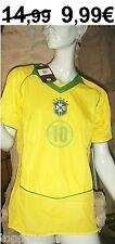 BRASILIEN TRIKOT  FUßBALL WM BRAZIL 10 KINDER 116 - 122 BRASIL FUßBALLTRIKOT NEU