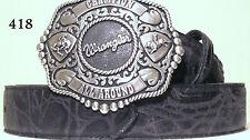 New Tooled Leather Wrangler Western Belt & Buckle Size 36