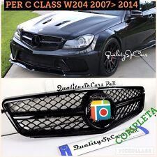 Griglia Mercedes C CLASS W204 S204 C2 NERA LUCIDA 2007>14 Amg calandra anteriore