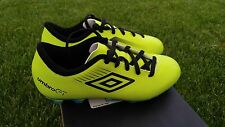 NIB Umbro GT II Shield FG Junior Soccer Cleats Style 80706U TBL- Sz 3 Neon Black