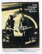 1994 IBANEZ ICB500 ICEMAN Electric Guitar SEAN YSEULT White Zombie Vtg Print Ad