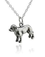 Labrador Retriever Dog Necklace - 925 Sterling Silver - 3D Charm Pets Lab New