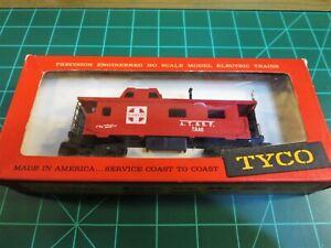 "TYCO MANTUA T327J:349 HO Scale 8 Wheel Streamline Caboose ""AT&SF 7240"""