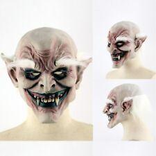 Máscara De Halloween 👻 completo cabeza Cabeza Aterrador Pelo Blanco 👻 Vampiro Fiesta espeluznante espeluznante Prop 👻