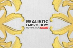 Photoshop Actions Realistic Embroidery V2