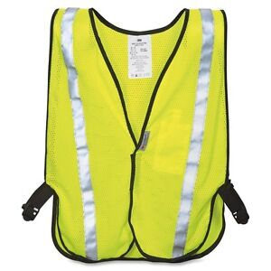 3m Reflective Yellow Safety Vest - Polyester - 1 Each - Yellow, Silver