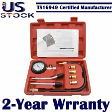 Automotive Petrol Gas Engine Cylinder Compression Tester Gauge Kit  Tool 300psi