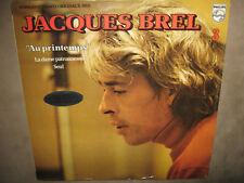 """JACQUES BREL 3 """"Au printemps"""" RARE SEALED New Vinyl LP France Philips 6325 204"""