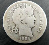 1895-S Barber Dime 10c Very Good VG Obv AG Reverse