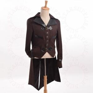 Victorian Swallow-tailed Coat Tailcoat Costume Tail Coat Jacket Mens Steampunk