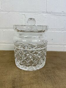 Waterford Crystal Lismore Biscuit BarrelLidded Cookie Jar / Canister