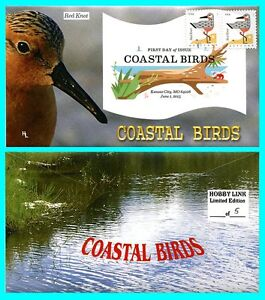 Coastal Birds Red Knot First Day Cover with Color Cancel