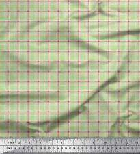 Soimoi Fabric Plaid Check Decor Fabric Printed BTY - CH-32B