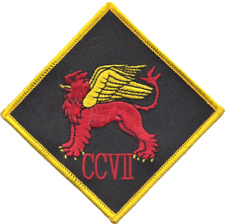 No. CCVII (207) (R) Squadron RAF Winged Lion Diamond Embroidered Patch