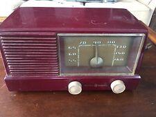 New ListingVintage Ge General Electric Model 416 Tube Radio Red