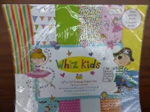 """12"""" x 12"""" PAPER PAD WHIZ KIDS IDEAL FOR GIRLS AND BOYS CARDS AND CRAFT PROJECTS"""