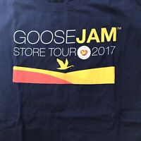WAWA Goose Jam 2017 T-Shirt XL Graphic Tee Blue Logo Cotton Retro Short Sleeve