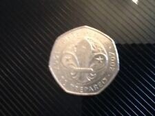 Collectable 50p celebrating the Centenary of the Scouting Movement