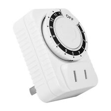 220V 12Hr ABS Mechanical Countdown Timer Socket Outlet Wall Plug Switch Knob OS