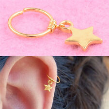1x Star Cartilage Helix Earring Piercing Nose Ring Body Piercing Jewelry HGUK