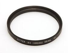 Gitterfilter 6x Cross Filterfassung E58