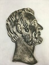 "Vintage Painted Abraham Lincoln Head 6.875"" Silhouette Figure Honest Abe *As-Is*"
